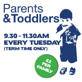 Parents and Toddlers*9.30 - 11.30am every Tuesday*Term Time Only