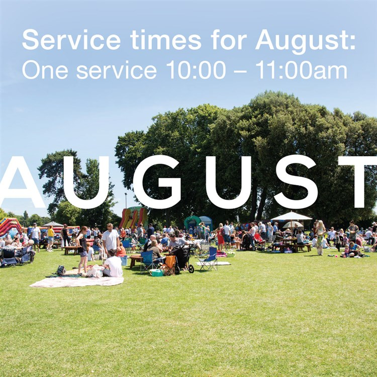 AUGUST*One service 10-11am*